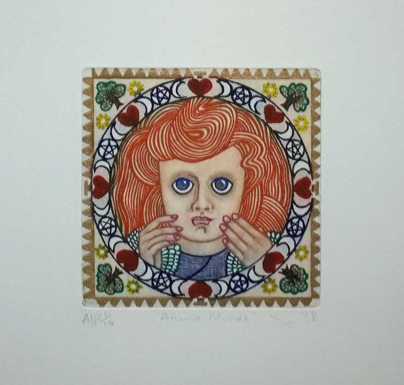 Fabriano Unica Colour Inked Etching