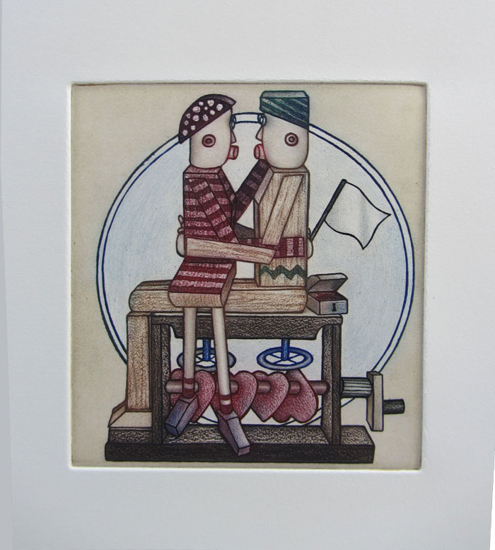 Colour Inked Etching